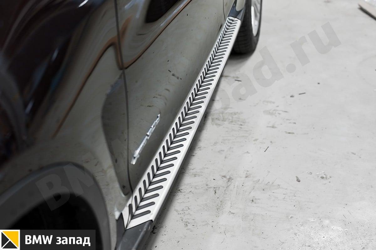 Алюминиевые пороги на БМВ