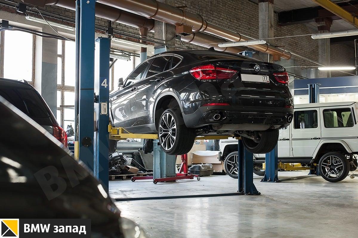 установка выхлопной системы M Perfomans BMW X6 F16