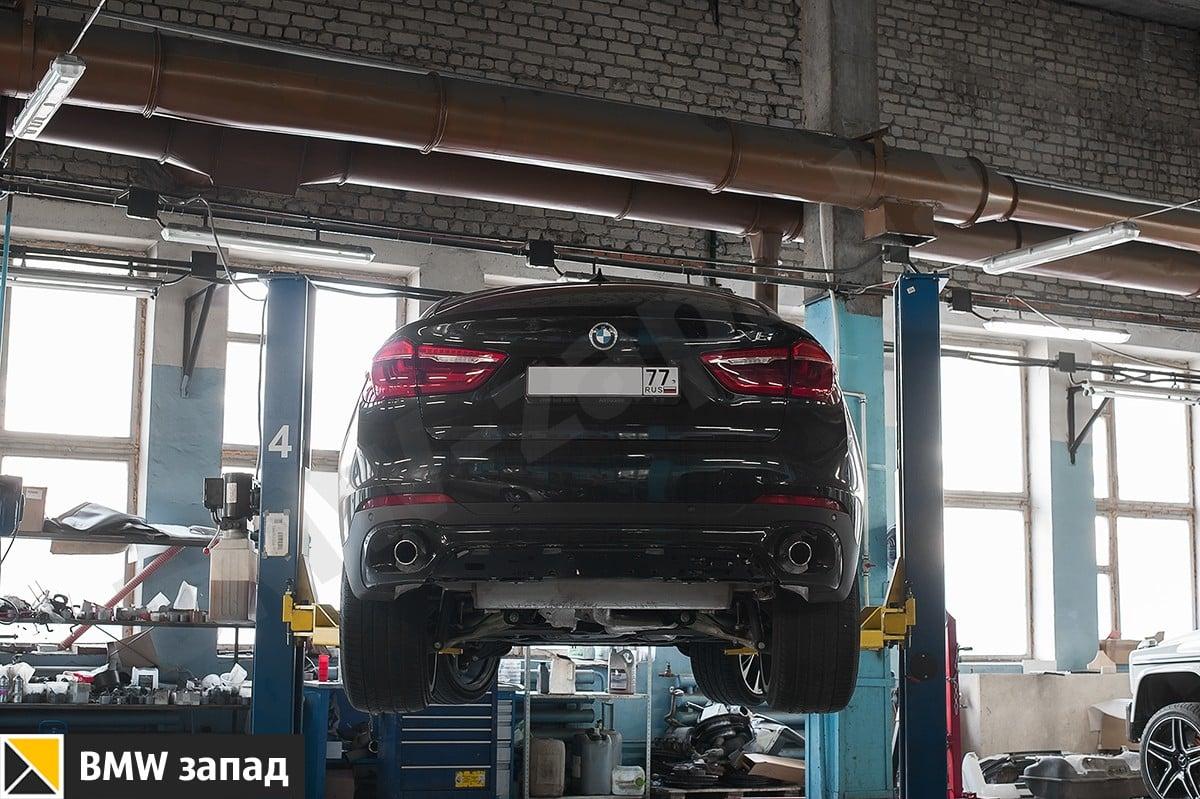замена выхлопа на M Perfomans для BMW X6